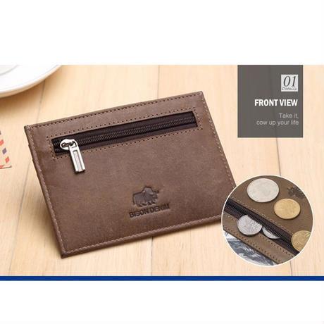 4カラー展開  本革 レトロデザイン コイン 小銭入れ  カードホルダー ヴィンテージポケット 小物入れ