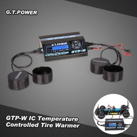 タイヤウォーマーカップヒーターワット/ 1/10サイズツーリングカー予熱ゴムタイヤ用LCDディスプレイ制御GTPOWER GTP-W IC