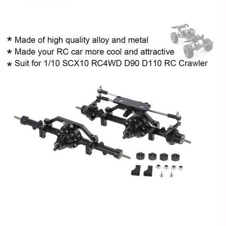 1/10 D90 RC4WD用メタル合金フロントアクスルリアアクスルYota II RCクローラー