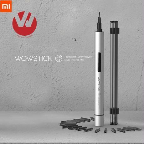 Wowstick 1Pプラス 19in1 コードレス 電動スクリュードライバー 単4電池式 DIYツールキット ピアノ 精密機器 カメラ A1343