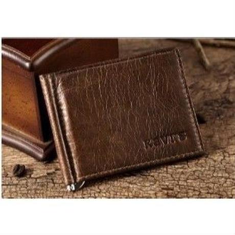 KAVIS 3カラー展開 マネークリップ付き薄型財布