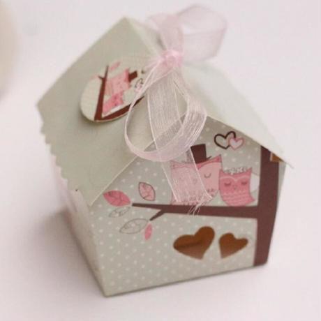 新品送料込 ギフトボックス 20個セット 家型 紙箱 リボン付 バレンタイン お誕生日会 結婚式 ラッピング プレゼント