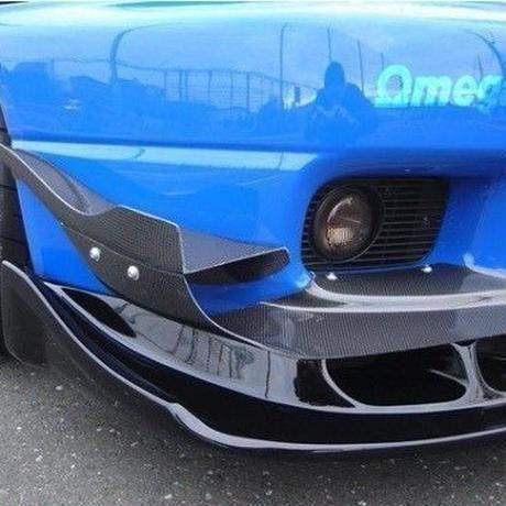 スカイライン GTR R33 フロントバンパーカナード カーボンファイバー