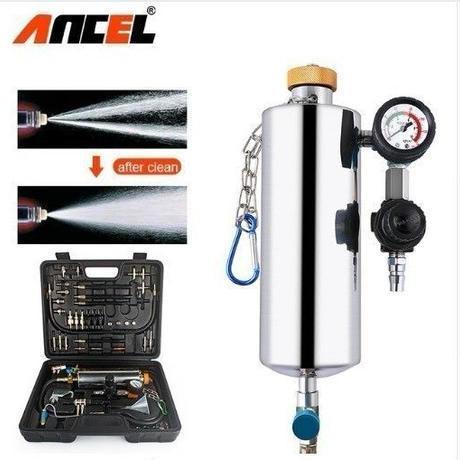 車の燃料インジェクターテストシステム アンセル GX100 燃料インジェクタークリーナーキット 圧力真空テスター