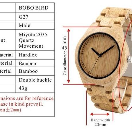 【BOBO BIRD】ボボバード シンプルデザインユニセックス 木製腕時計 【自然に優しい天然木】