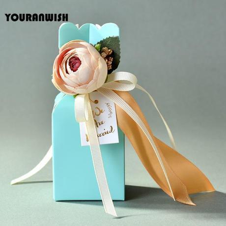新品送料込 ギフトボックス 20個セット 薔薇 ローズリボン 青 バレンタイン お誕生日会 結婚式 ラッピング プレゼント