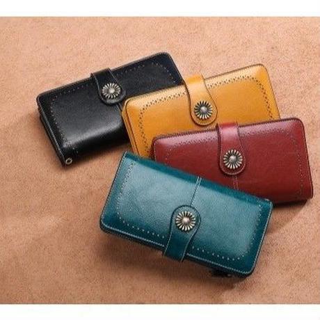 Sendefn 4カラー展開 大容量 レディースクラッチ財布