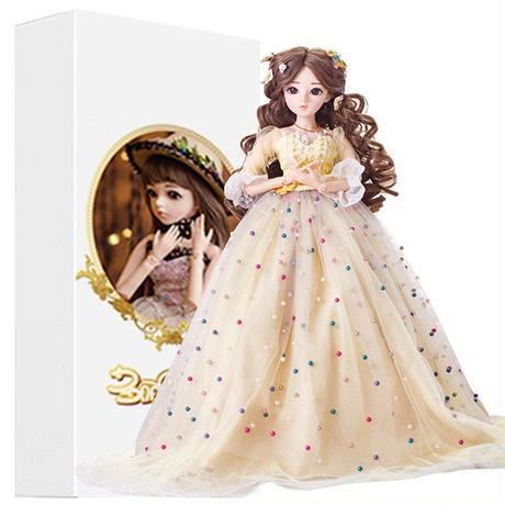 60cm 1/3 サイズ イエロードレス プリンセス かわいい女の子 球体関節人形 BJD カスタムドール リアルドール
