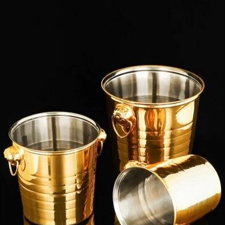 業務用 シャンパンクーラー ワインボトルクーラー アイスバケツ ゴールド 金色 高級飲食店 厨房 業務用 ホテル パーティー 3L 5L 7L 選択可