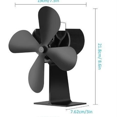 HEXU ストーブファン 薪ストーブ/暖炉/石油ストーブ用 エコファン ヒートパワー アルミ製