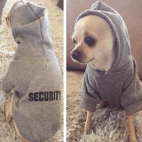 IDEPET セキュリティ 犬の服 ペット 犬のパーカー チワワなどアドレス子犬の服