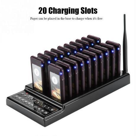 最新型 呼び出しベルシステム コール ゲストレシーバー ワイヤレスチャイム 業務用 受信機20台セット