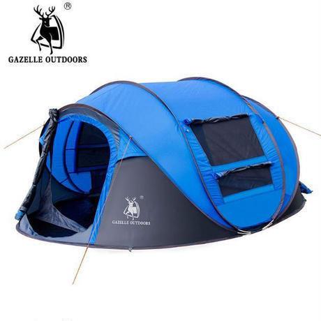 GAZELLE-OUTDOORS ポップアップ テント 3-4人用 防風 防水 ビーチ キャンプ