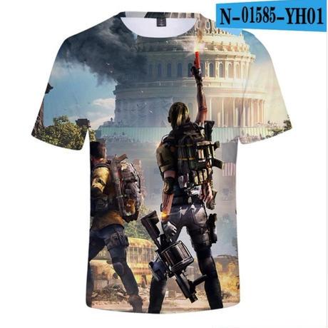ディビジョン2グッズ3Dデザイン Tシャツ 半袖 ユニセックス Dvision2