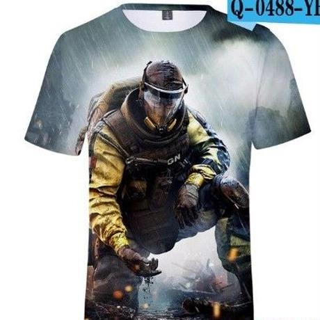 レインボーシックスシージ tシャツ 3Dデザイン  ユニセックス