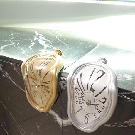 ダリの腰掛時計(シルバー)