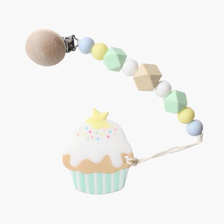 ギフトセット【カップケーキ歯固め × マシュマロホルダー】  ミント