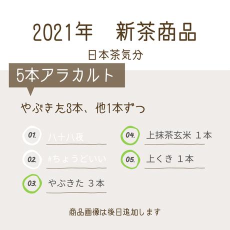 2021年新茶 メイン3本が「やぶきた煎茶」のセット