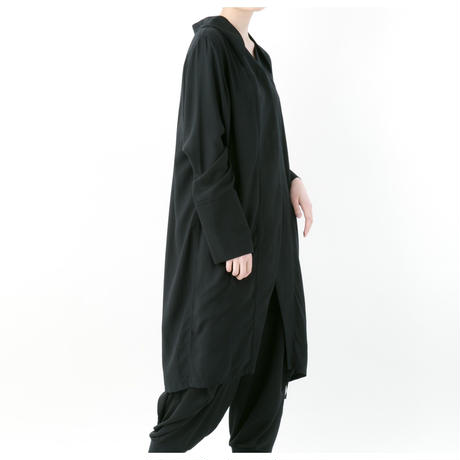 《BLACK by -niitu-》 Rayon shirt (BLACK)