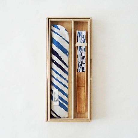 扇子 fountain pen 紺