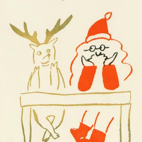 手ぬぐい 待ちわびるクリスマス