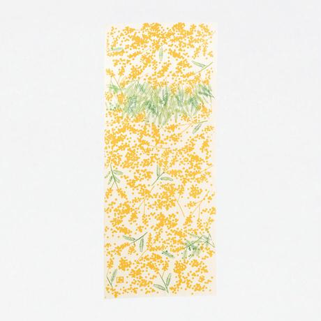 扇子 tenugui bouquet ミモザ