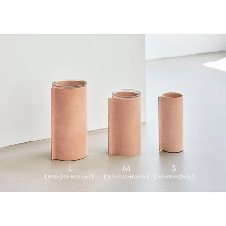 Leather Vase / M【受注生産】