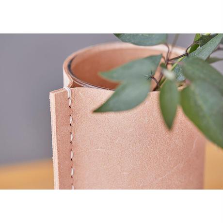Leather Vase / S【受注生産】