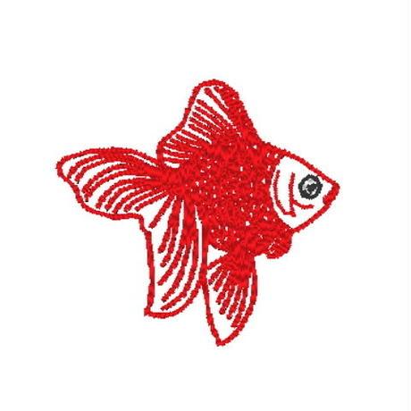 金魚の刺繍データ (pes形式)