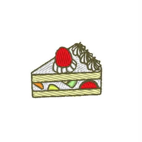 フルーツケーキの刺繍データ (pes形式)