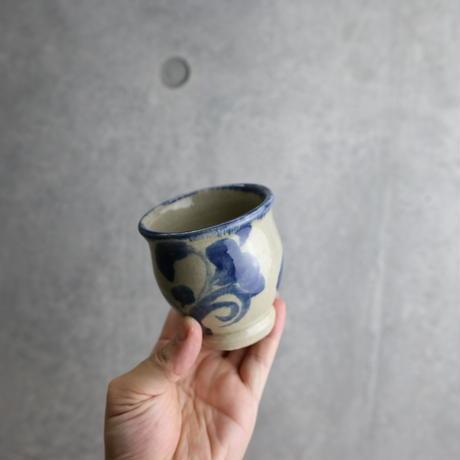 【北窯 松田米司工房】呉須唐草 次郎型湯呑①