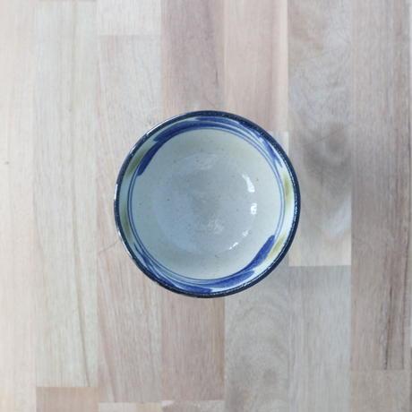 7006024 【陶芸こまがた】4寸マカイ 唐草柄(青・緑)
