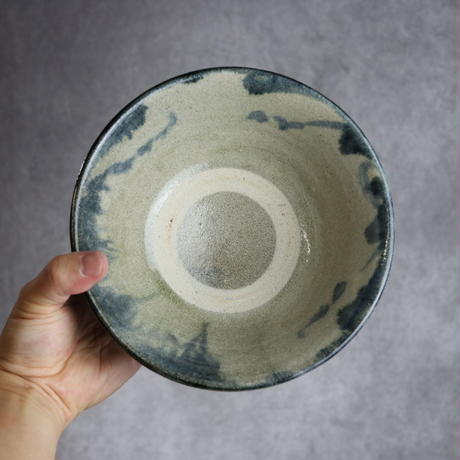 7013042【榮一工房】呉須菊唐草 6寸マカイ②