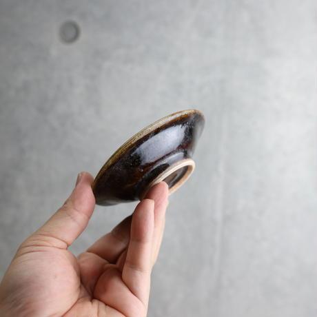 【北窯 松田米司工房】飴・呉須輪紋 3寸皿②