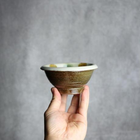 7010021【漂窯】三彩点打 4寸ワンブー②