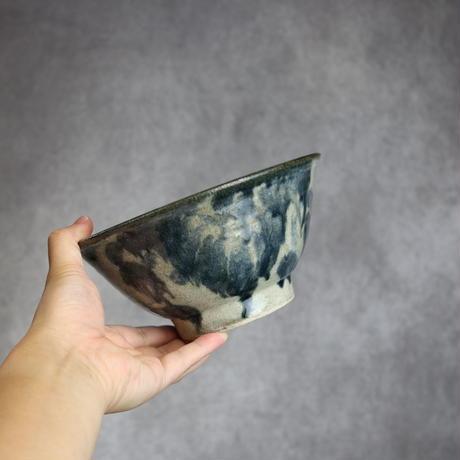 7013054【榮一工房】呉須菊唐草 6寸マカイ①