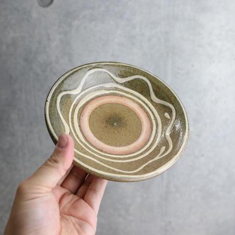 【北窯 松田米司工房】イッチン波紋 5寸皿①