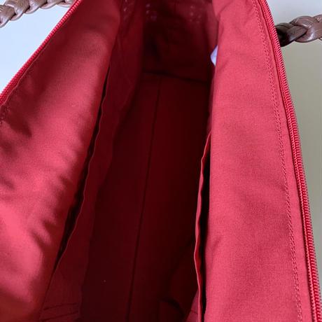 横長透かし編みスクエアバッグ