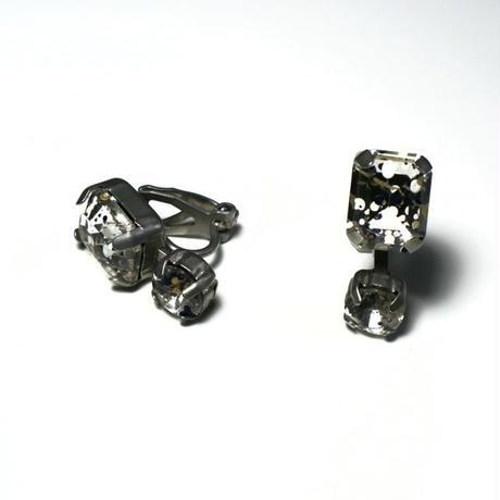 【nikori】 painting _ mat silver pierce  / earring