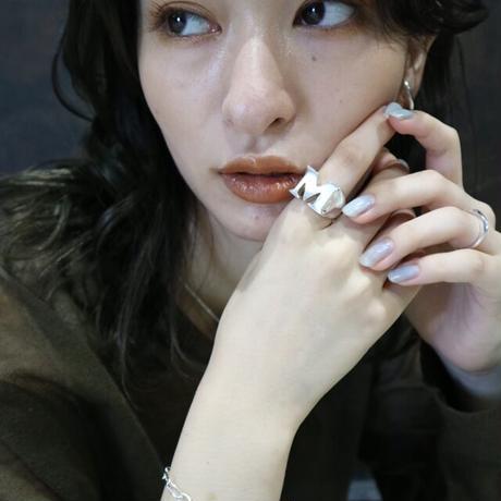 Paw silver Big ring (A~Z)001R