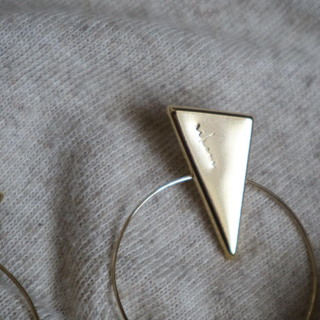 metallic  maru-sankaku   silver  _  pierce/earring