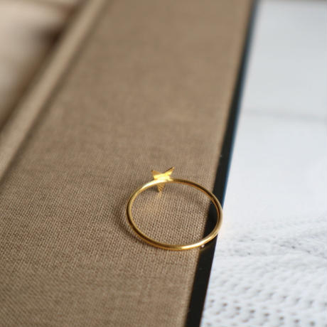 【nikori】 star-ring  gold(10号)