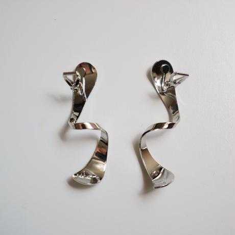 spiral   silver  _   pierce / earring