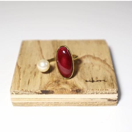 七宝 ring _ wine red