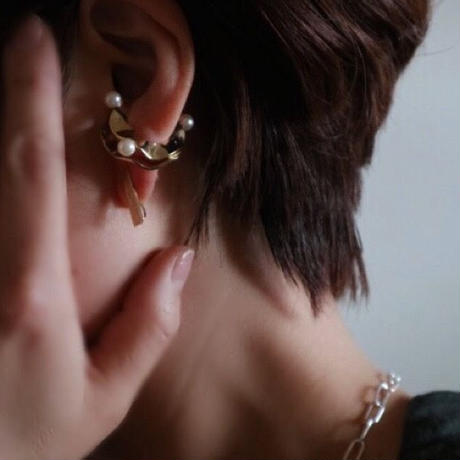 stick shell_  gold pierce / earring