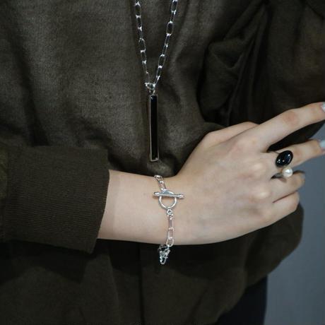 Paw silver necklace top(shippou) 0010NT