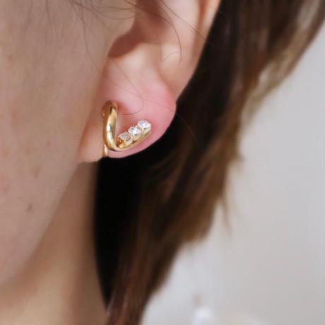 【nikori】 v gold pierce/ earring