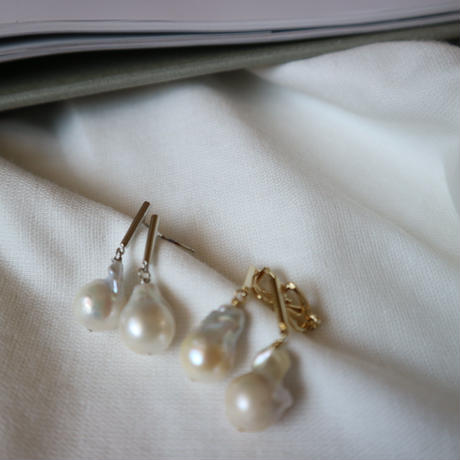 【nikori】 baroque pearl  gold pierce/ earring