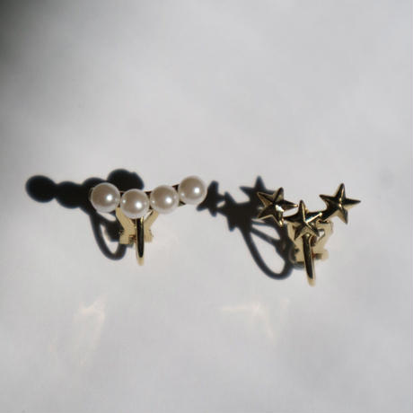 four perl  smile pierce/ earring silver(1ケ販売)
