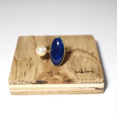 七宝 ring _ deep blue